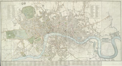 Cary's new and accurate plan of London and Westminster, the borough of Southwark and parts adjacent (1825)